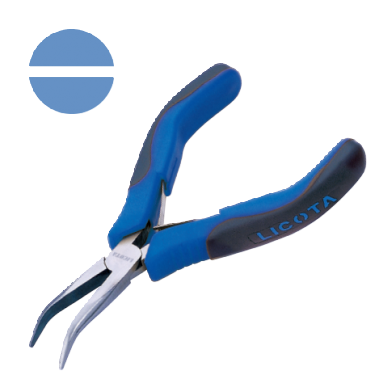 BENT NOSE PLIERS NON CUTTER, SMOOTH JAWS (SPRING WITH SHEET STAINLESS STEEL)