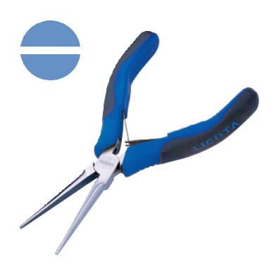 LONG NEEDLE NOSE PLIERS NON CUTTER, SMOOTH JAWS (SPRING WITH SHEET STAINLESS STEEL)